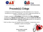 CONVITE - CAA/RS estará presente na OAB Cruz Alta no dia 28 de Março das 14h as 18h30min
