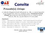 CONVITE - Participe da Interiorização da Comissão Especial do Jovem Advogado  a ser realizada na OAB Cruz Alta neste dia 04 de Maio